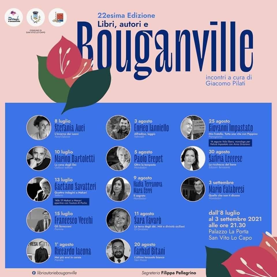 libri autori e bouganvillee san vito lo capo